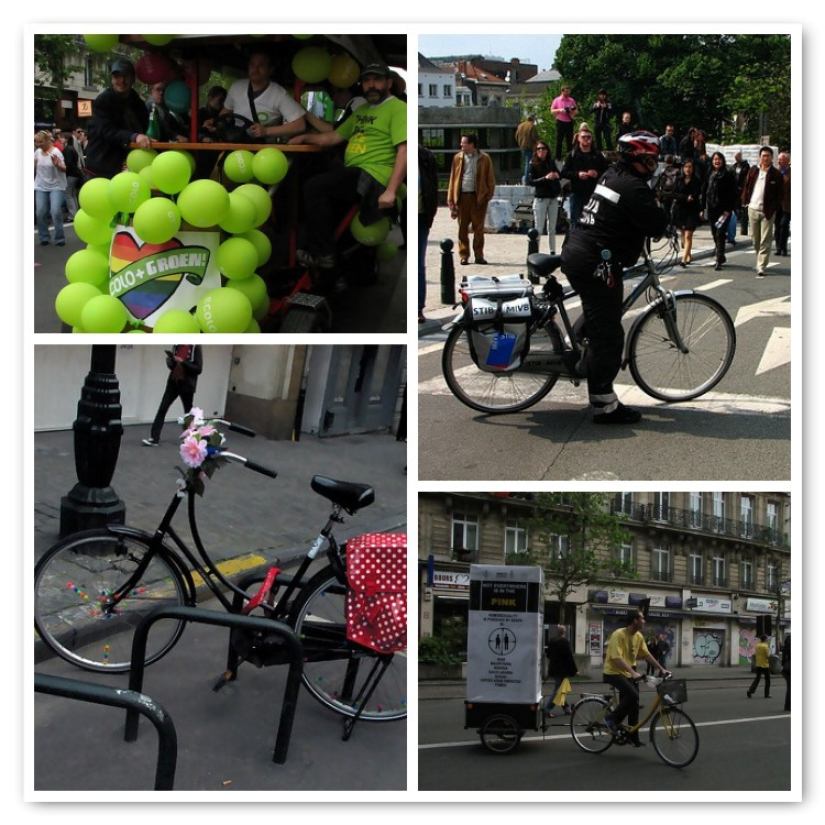 La Gay Pride din Bruxelles, bicicleta nu a făcut discriminări