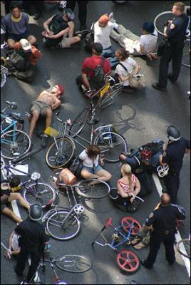 Bicicleta ca instrument de protest