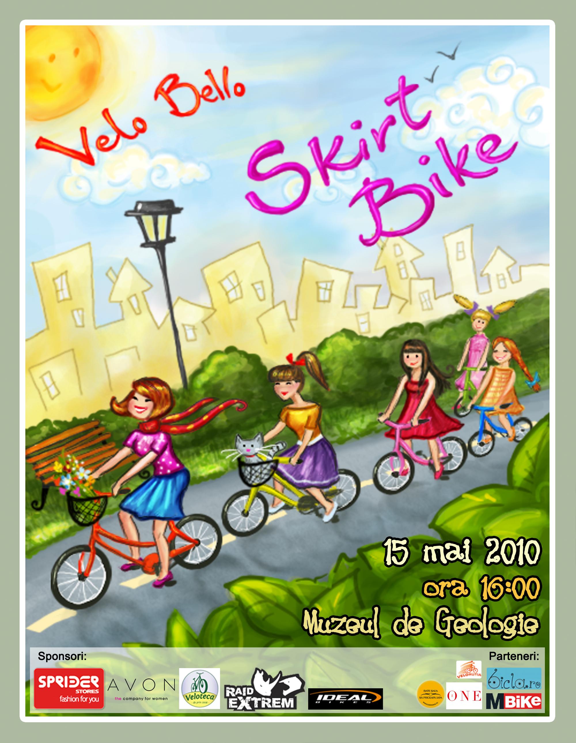 Fustă + bicicletă = love