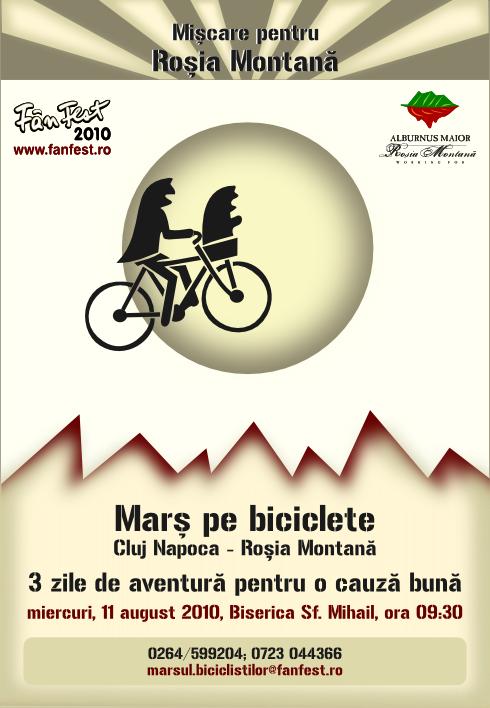 Pentru Roşia Montana, pe biciclete!