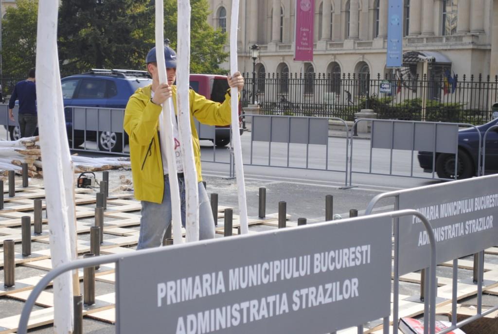 Park(ing) Day în Bucureşti: era pe cînd nu s-a zărit...
