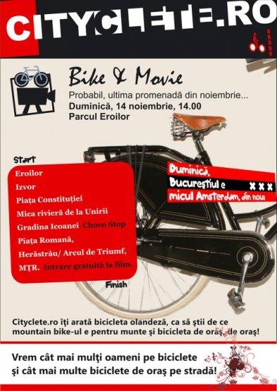 Bicicletă şi film în weekend
