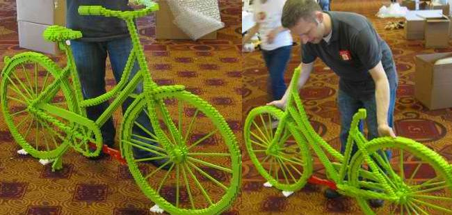 Bicicleta Lego, singura pe care nu se poate merge